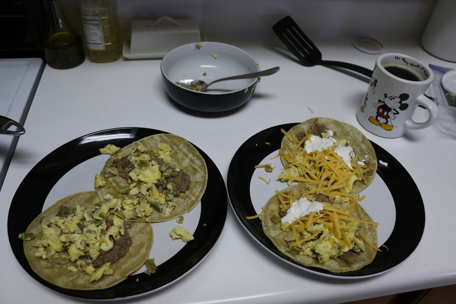 Cactus with egg tacos